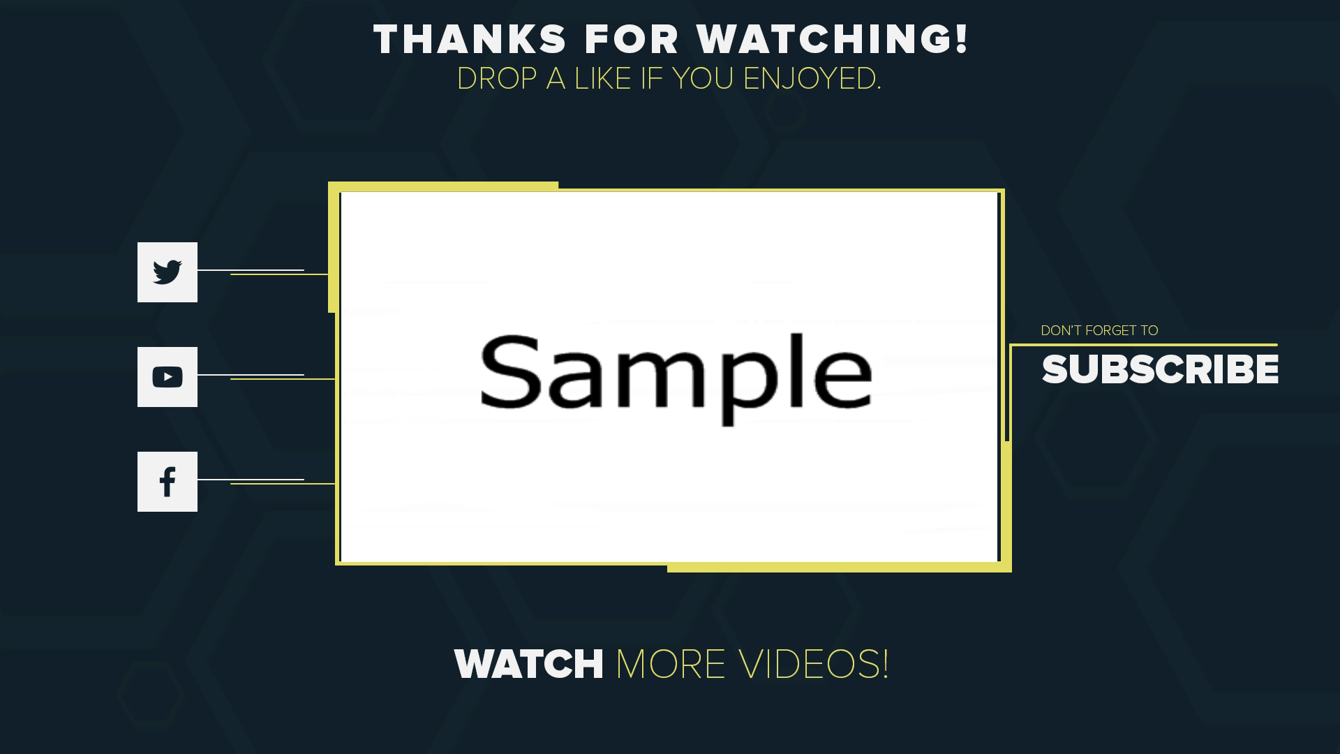 2D Outro Template Wondershare Filmora | Free Download